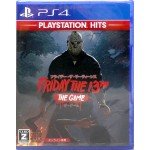 PS4 Friday the 13th The Game Japanese Version PLAYSTATION HITS NA Publishing