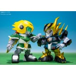 Chogokin Iron Leaguer Mach Windy & Gold Foot Shippu! Iron Leaguer Bandai