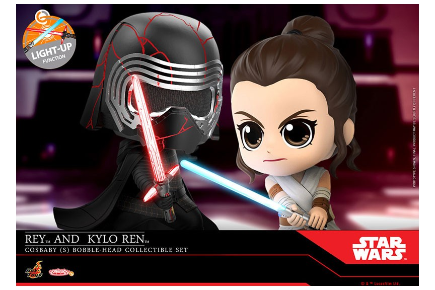 Cosbaby Star Wars Star Wars The Rise Of Skywalker Rey And Kylo Ren Hot Toys Mykombini