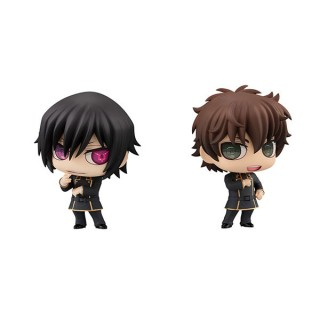 Chimi Mega Buddy Series Code Geass Lelouch of the Rebellion Lelouch Lamperouge And Suzaku Kururugi Set MegaHouse