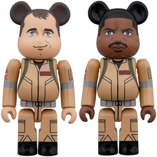 BEARBRICK GHOSTBUSTERS 100% Peter Venkman and Winston Zeddemore Medicom Toy