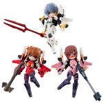 Desktop Army Rebuild of Evangelion Pack of 3 MegaHouse