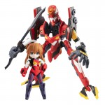 Desktop Army Rebuild of Evangelion Asuka Langley Shikinami and EVA 02 MegaHouse
