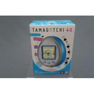 (T2E1) TAMAGOTCHI 4U COLOR BLUE WITH CARDS TOUCH NEW COLLECTOR BANDAI