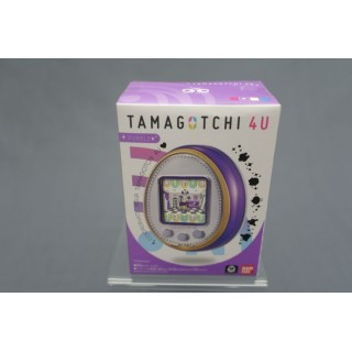 (T2E1) TAMAGOTCHI 4U COLOR PUPLE WITH CARDS TOUCH NEW COLLECTOR BANDAI