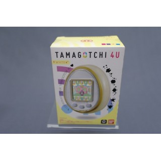 (T2E1) TAMAGOTCHI 4U COLOR WHITE WITH CARDS TOUCH NEW COLLECTOR BANDAI