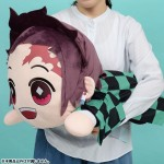 Demon Slayer Kimetsu no Yaiba Extra Large Nesoberi Plush Tanjiro Kamado SEGA