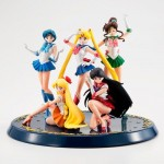 HGIF Pretty Guardian Sailor Moon Set of 5 With Pedestal Premium Collection Bandai Limited