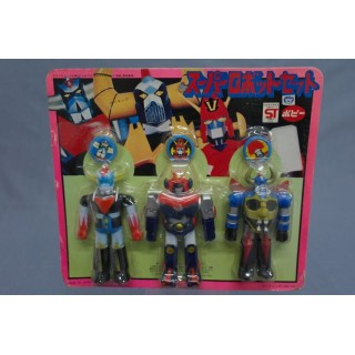 (T3E11) GRENDIZER GAIKING VOLTEZ V POPY VINTAGE SET JAPAN SEALED