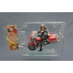 (T5E6) LUPIN THE THIRD TORU TORU ITEM FUJIKO MINE RED MOTOBIKE VINTAGE BANPRESTO