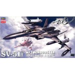 Macross Zero 1/72 SV-51 Gamma with Twin Booster Plastic Model Hasegawa