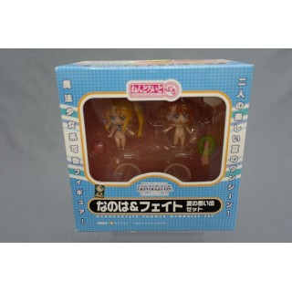 (T4E5) MAGICAL GIRL LYRICA NANOHA and FATE THE MOVIE 1ST NENDOROID PETIT GOOD SMILE COMPANY