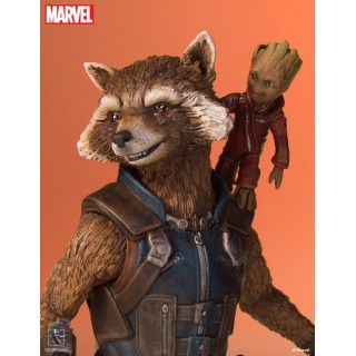 Guardians of the Galaxy Vol.2 1/8 Scale Statue Rocket & Baby Groot Gentle Giant