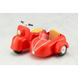 Cu-poche Extra Motorcycle & Sidecar (Cherry Red)
