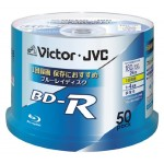 (T11E2) Blu-ray disc Victor JVC BD-R 25GB (BV-R130U50W) pack of 50 units