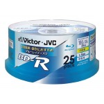 (t6e2) Blu-ray disc Victor JVC BD-R 25GB (BV-R130U25W) pack of 25
