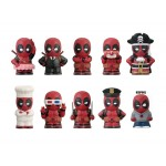 Deadpool Soft Vinyl Puppet Mascot Box of 10 Ensky