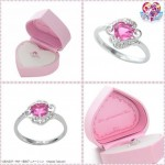 Pretty soldier Sailor moon Mamoro to Usagi engagement ring (Silver Ver.) Bandai Limited (Made in Japan) Size 11