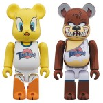 BEARBRICK Space Jam Tweety Bird & Tasmanian Devil Medicom Toy