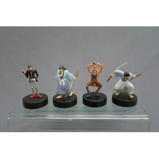 (T1EV) Lupin the third set of 4 mini figures (not for sale) Roots