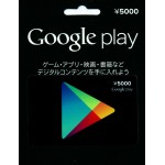 Google Play Gift Card 5000 YEN (For Japan Account) Google