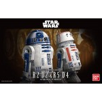 Star Wars model kit R2-D2 and R5-D4 Astromech Droids 1/12 scale Bandai
