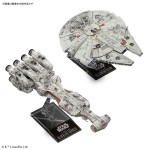 Star Wars 1/1000 Blockade Runner & 1/350 Millennium Falcon (Episode 4 A New Hope) Model kit Bandai Spirits