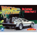 Movie Mecha No.11 Back To The Future 1/43 Pullback DeLorean PartI Plastic Model Kit Aoshima