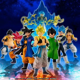 HG Movie Dragon Ball Super Goku! Vegeta! Fusion set of 8 figures with Effect Bandai Limited