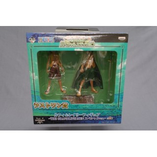 (T10E9) One Piece Ichiban Kuji Luffy and Rayleigh The Grandline Men last one special ver.