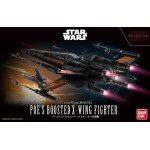 Star wars Poe's Boosted X-Wing Fighter 1/72 Model kit Bandai