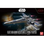 Star wars Blue Squadron Resistance X-Wing Fighter 1/72 Model kit Bandai