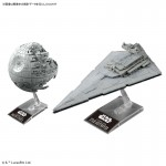 Star wars Death Star II 1/2700000 & Star Destroyer 1/14500 Model kit Bandai